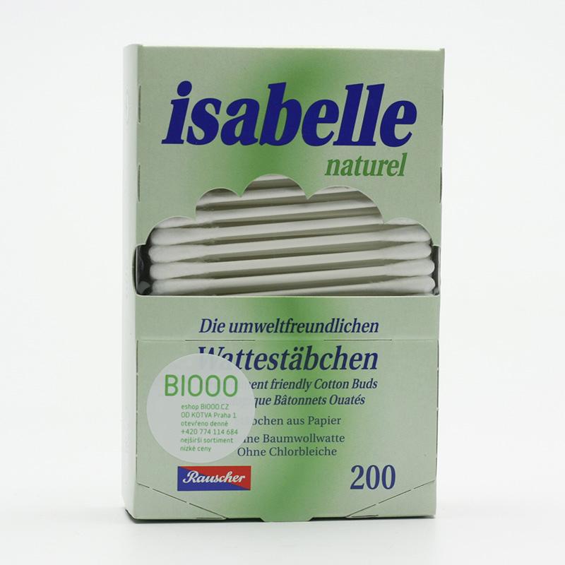 ostatní Vatové tyčinky do uší Isabelle Natural 200 ks