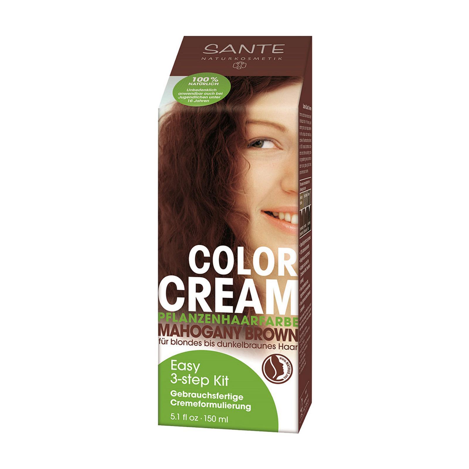 Santé Krémová barva na vlasy hnědý mahagon 150 ml