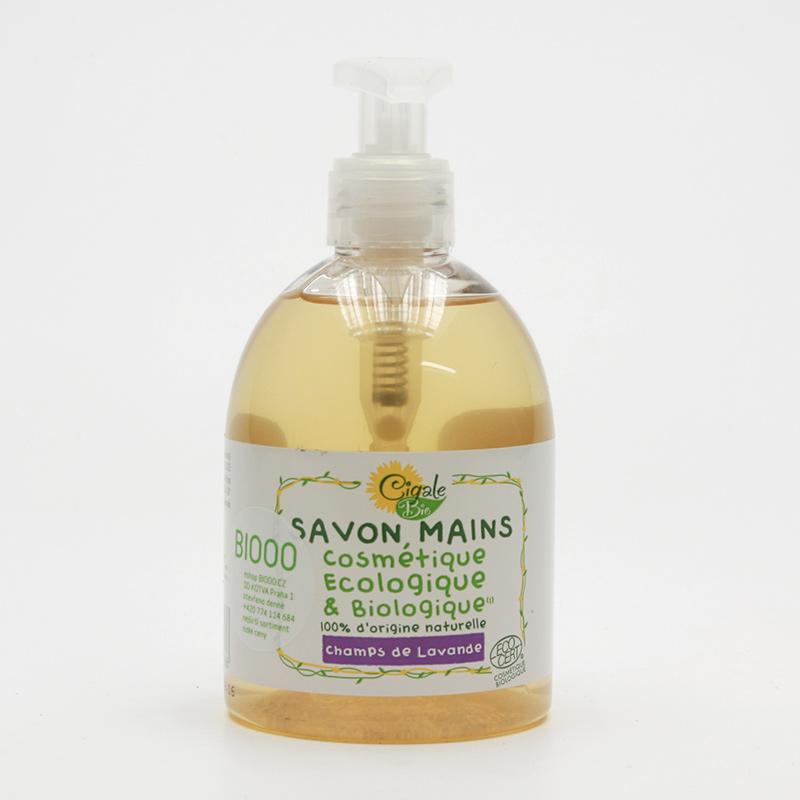 Cigale BIO Tekuté mýdlo Levandulové pole 300 ml