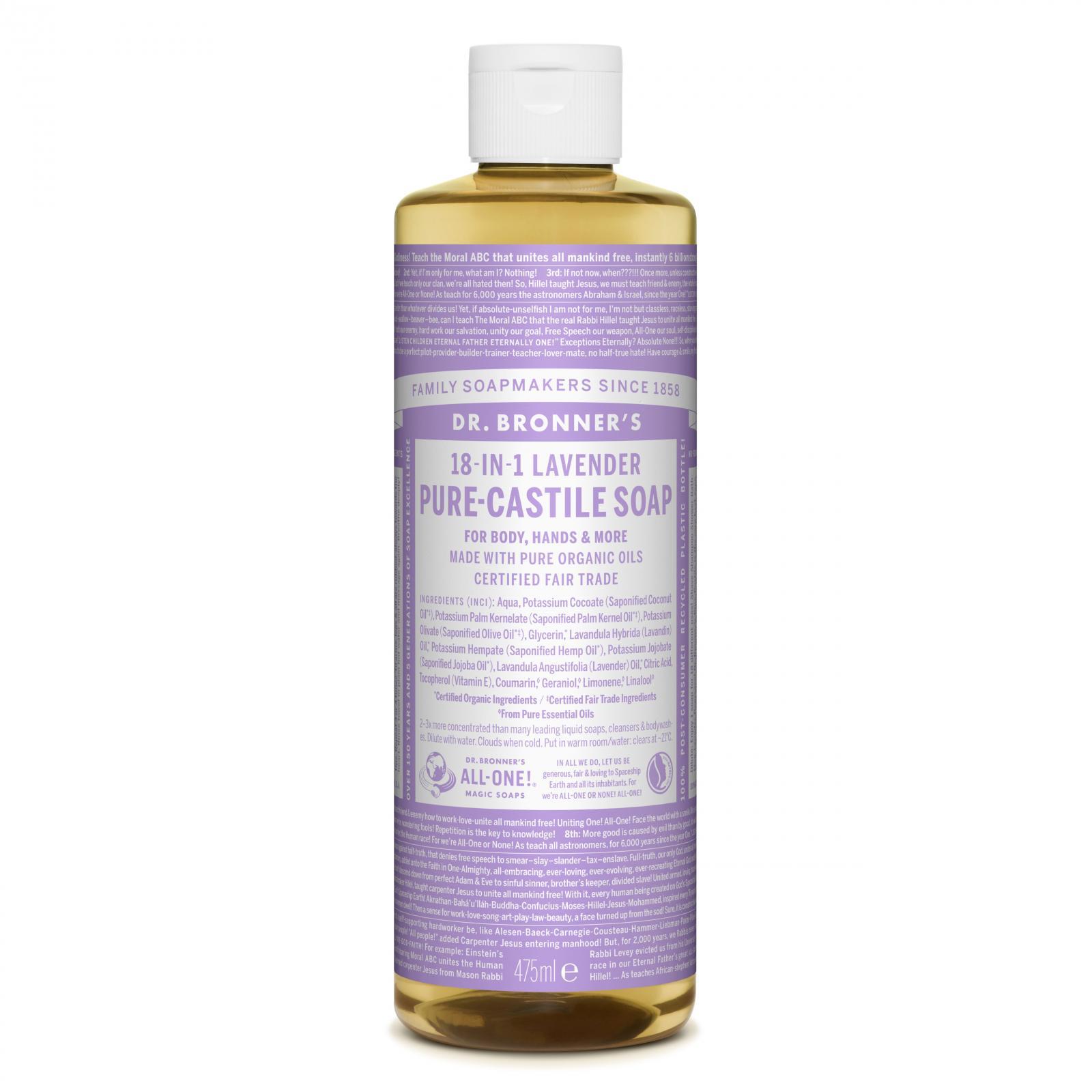 Dr. Bronner´s Tekuté universální mýdlo ALL-ONE!, Lavender 475 ml