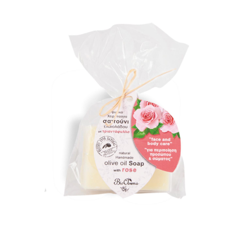BioAroma Mýdlo s olivovým olejem a růží 90 g