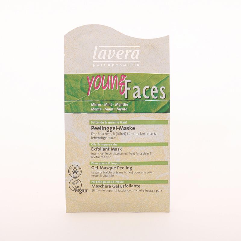 Lavera Výprodej Čistící peelingová maska máta, Faces 10 ml