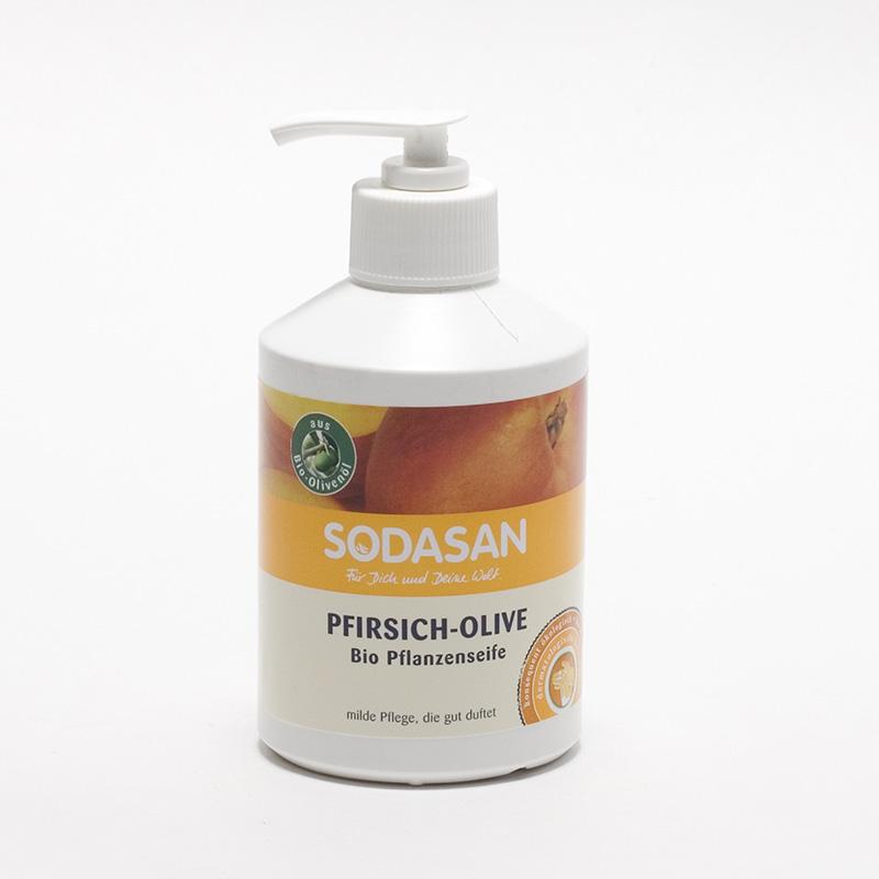 Sodasan x Tekuté mýdlo broskev a oliva 300 ml