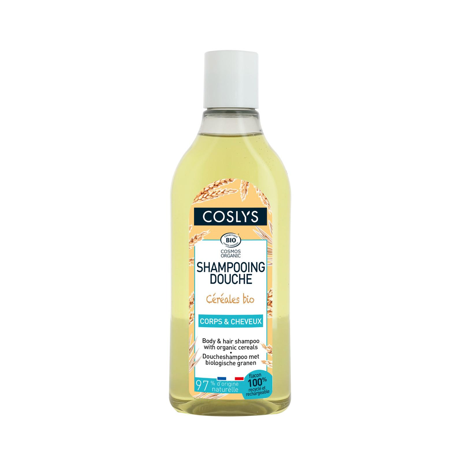 Coslys Sprchový šampon bez mýdla 2 v 1 na vlasy a tělo s výtažky z obilí 250 ml