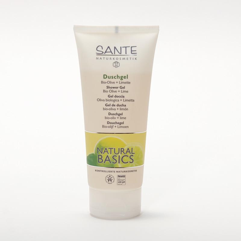 Santé Sprchový gel bio oliva a limetka, Natural Basics 200 ml