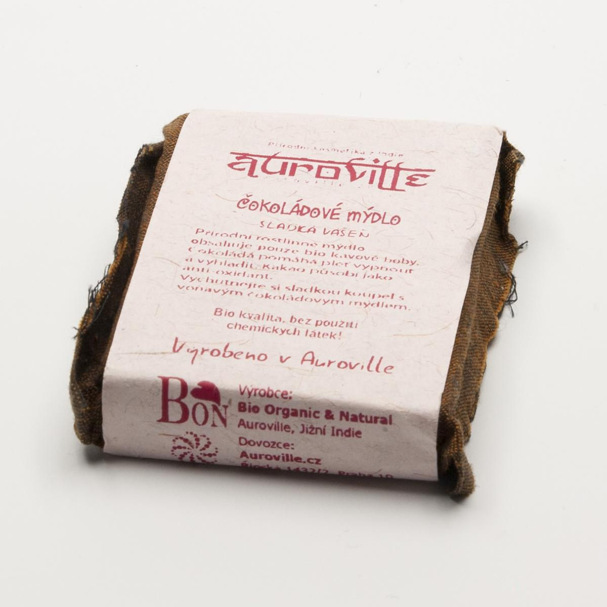 Auroville Mýdlo čokoládové, Bon Auroville 50 g