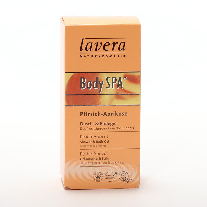 Lavera Sprchový a koupelový gel meruňka a mandlový květ, Body Spa 150 ml