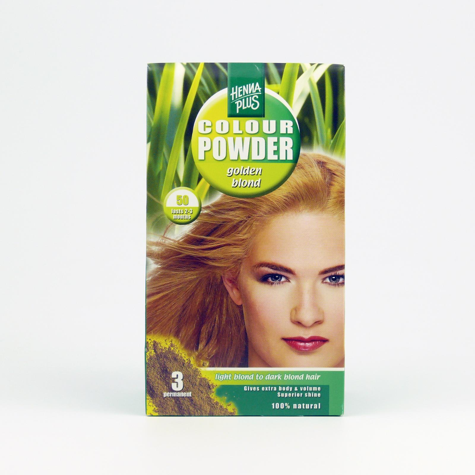 Henna Plus Přírodní prášková barva Zlatá blond 50 100 g