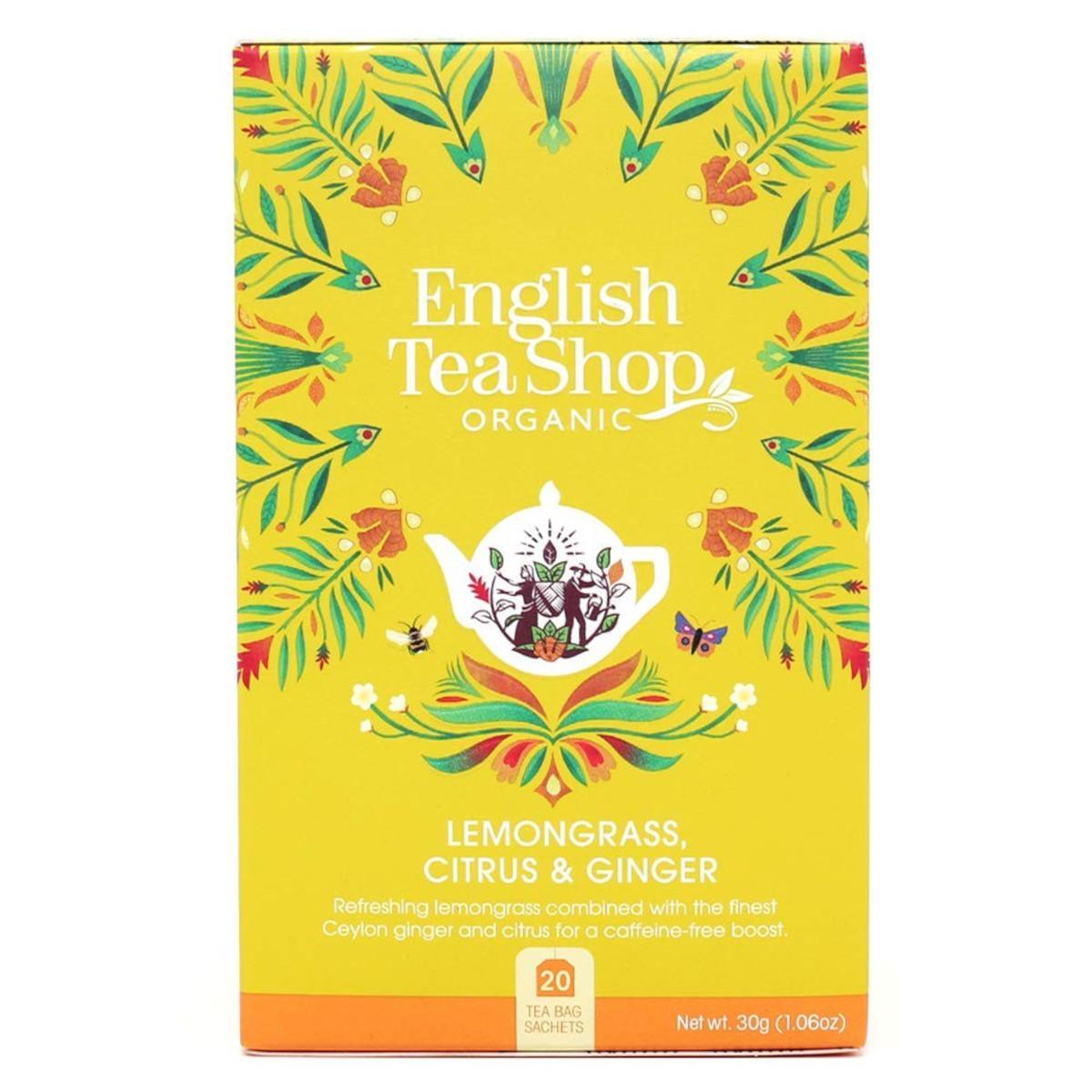 English Tea Shop Čaj citronová tráva, zázvor a citrusy 30 g, 20 ks
