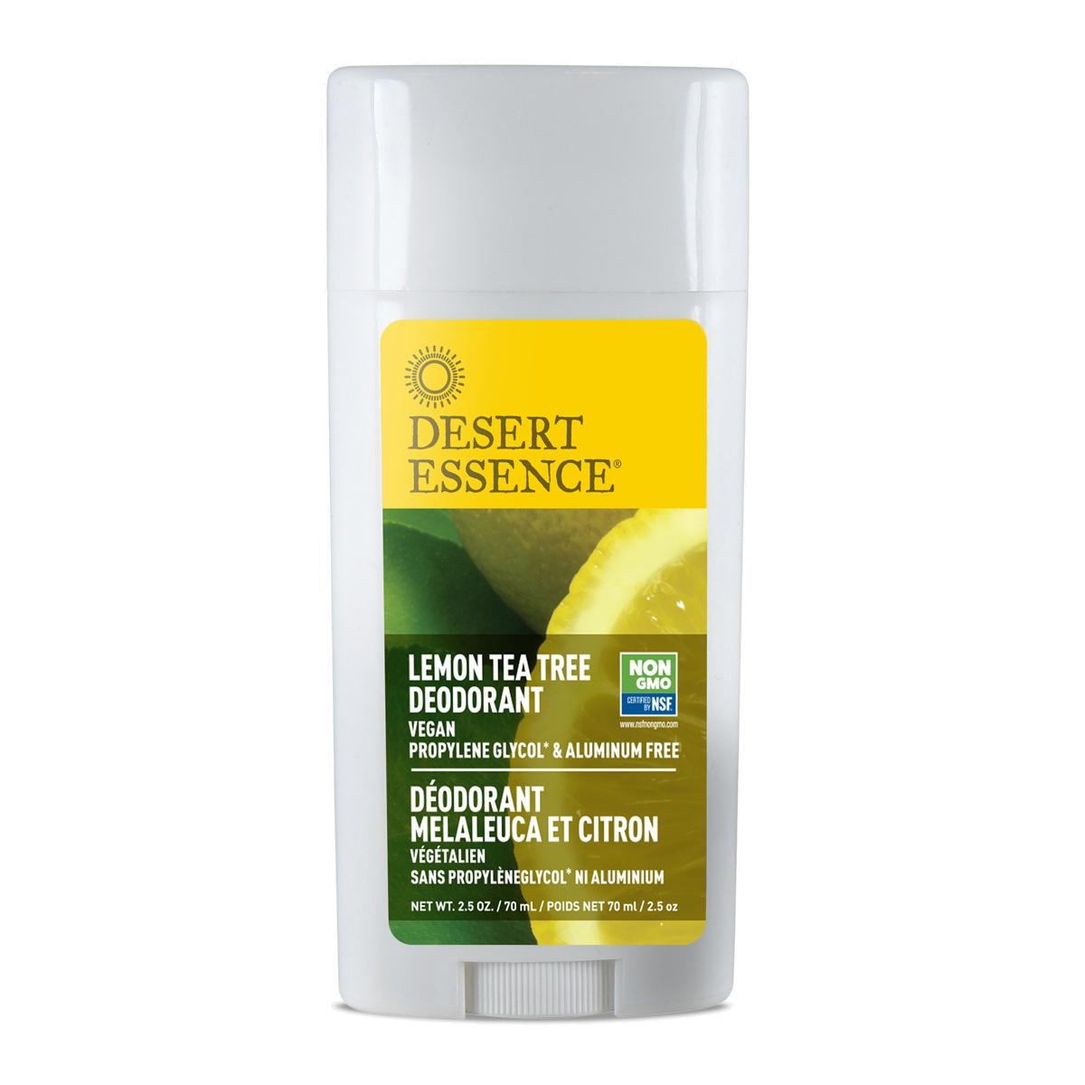 Desert Essence Tuhý deodorant lemon tea tree 70 ml