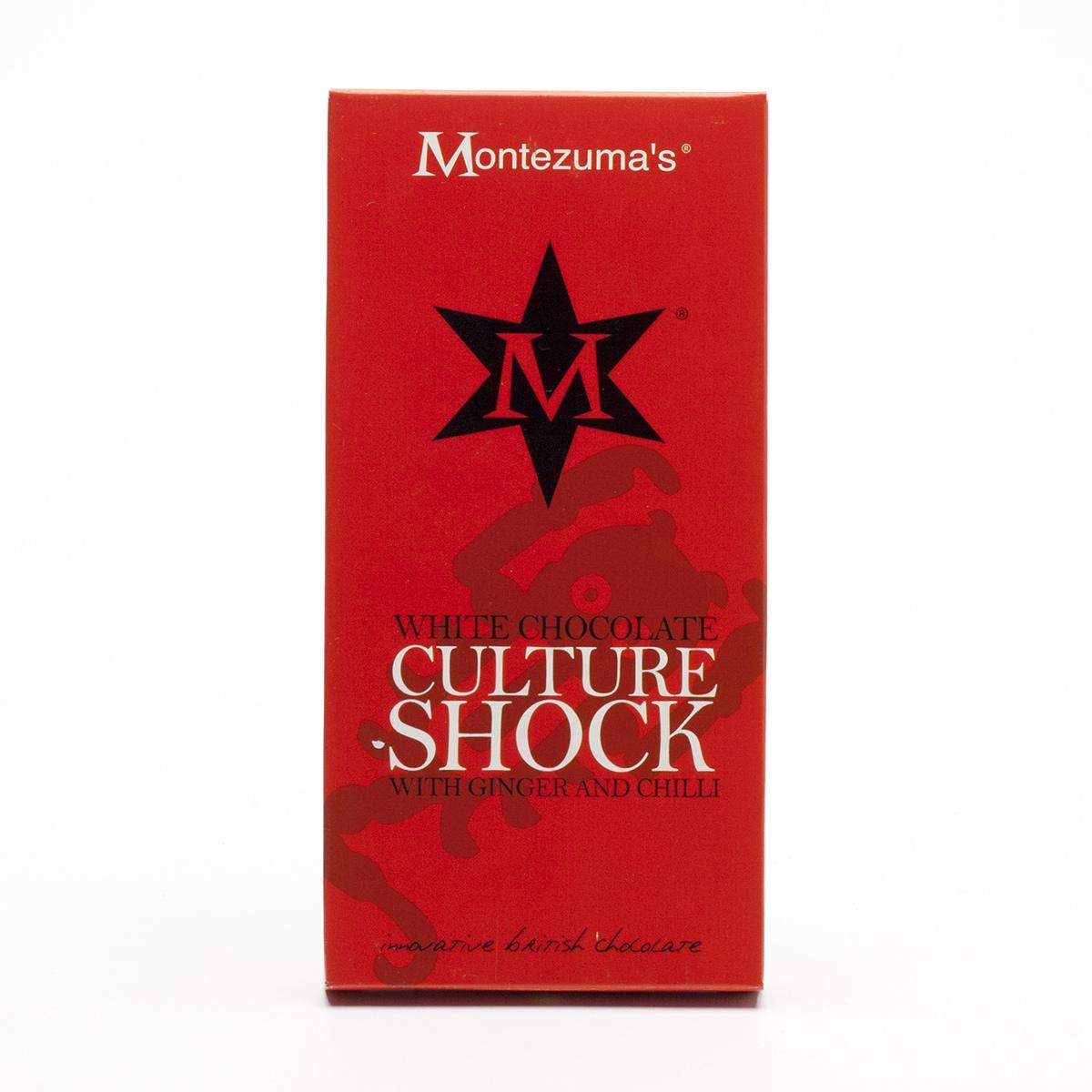 Montezumas Čokoláda bílá se zázvorem a chilli Culture Shock bio 100 g