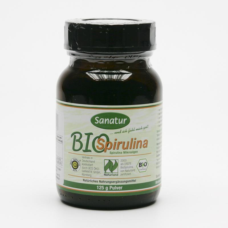 Sanatur Spirulina bio, prášek 125 g