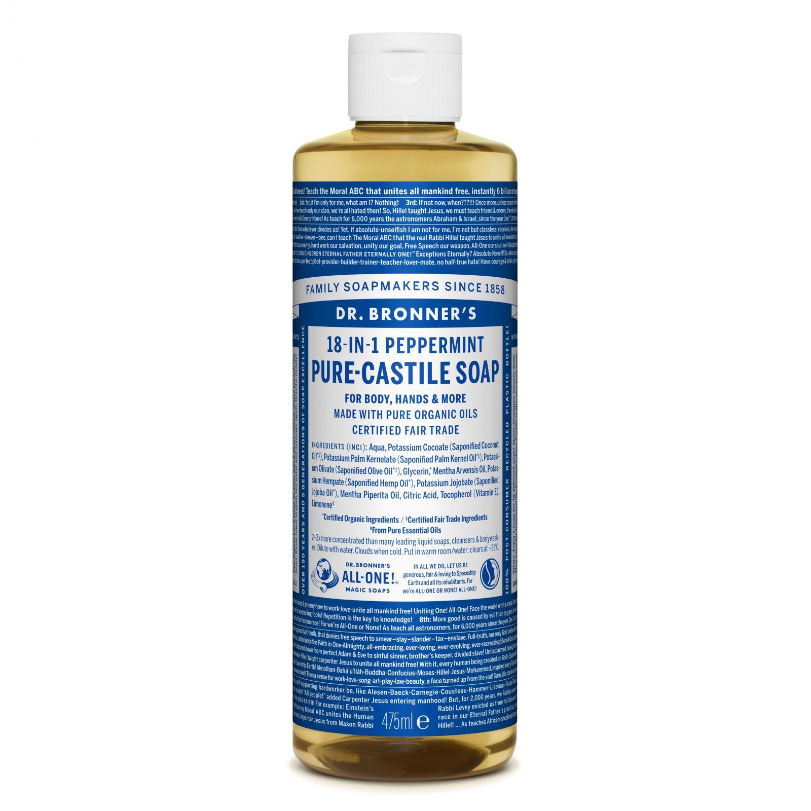 Dr. Bronner´s Tekuté universální mýdlo ALL-ONE!, Peppermint 473 ml