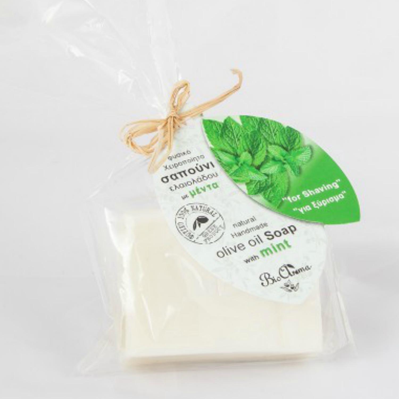 BioAroma Mýdlo s olivovým olejem s mátou na holení 90 g