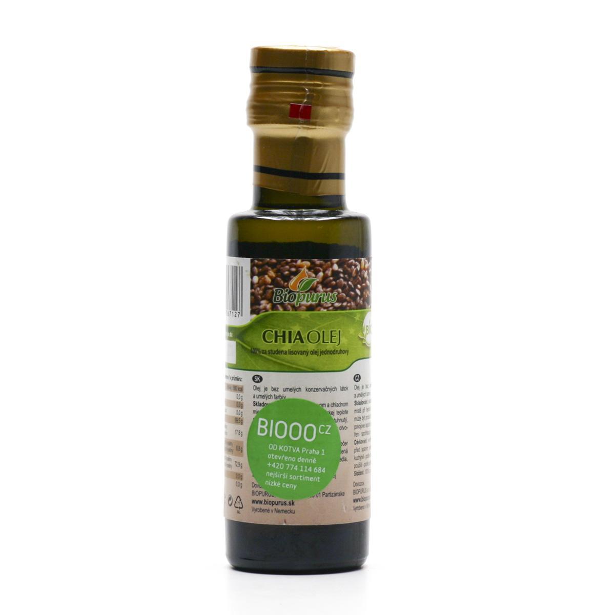 Biopurus Chia olej bio 100 ml