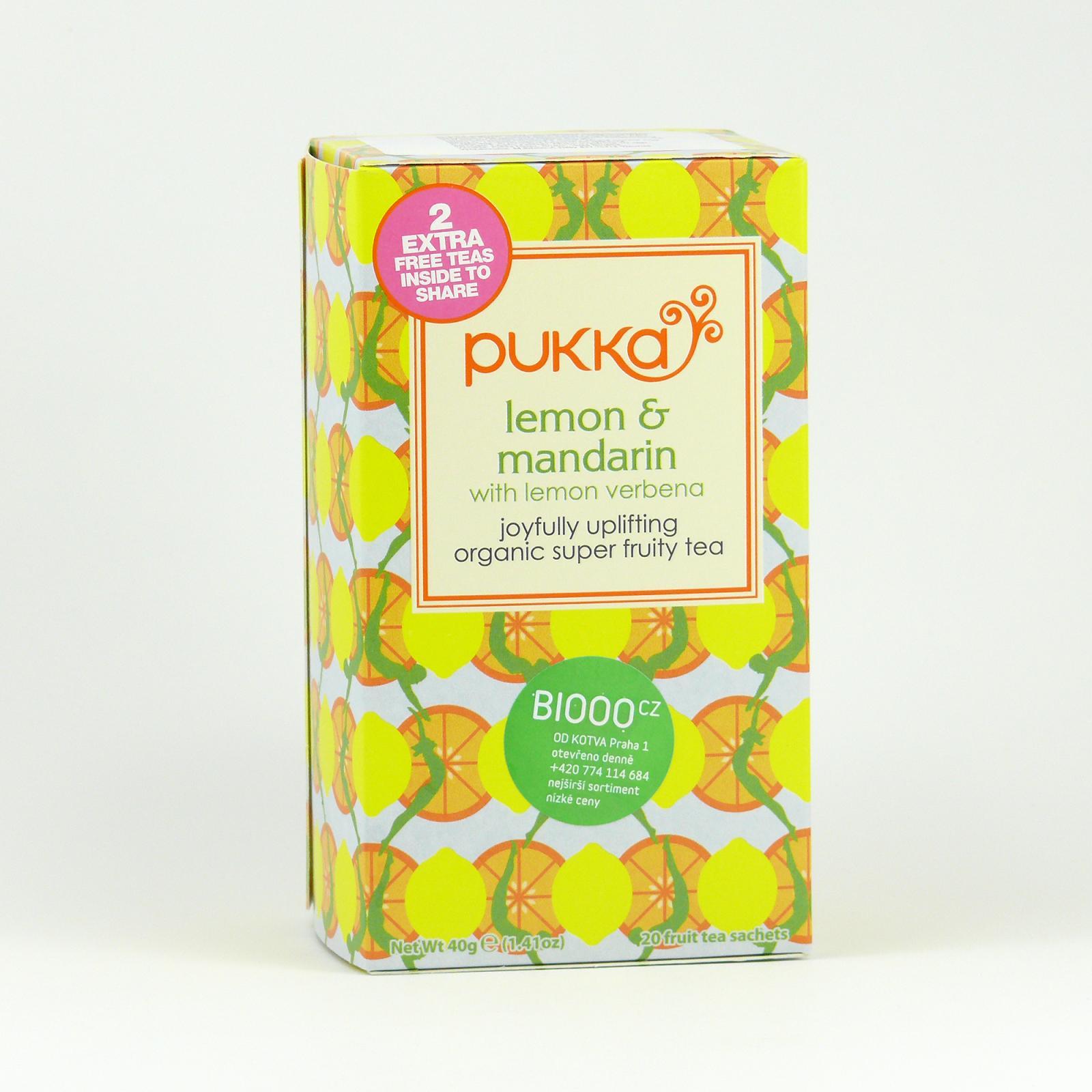 Pukka Čaj ayurvédský Lemon, Mandarin 20 ks, 40 g