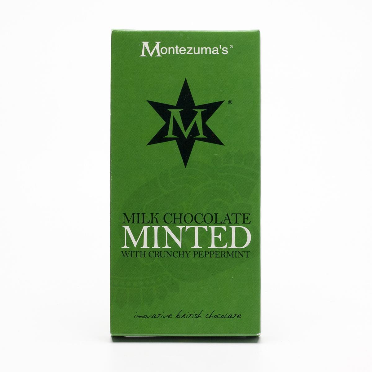 Montezumas Čokoláda mléčná s mátou bio 100 g