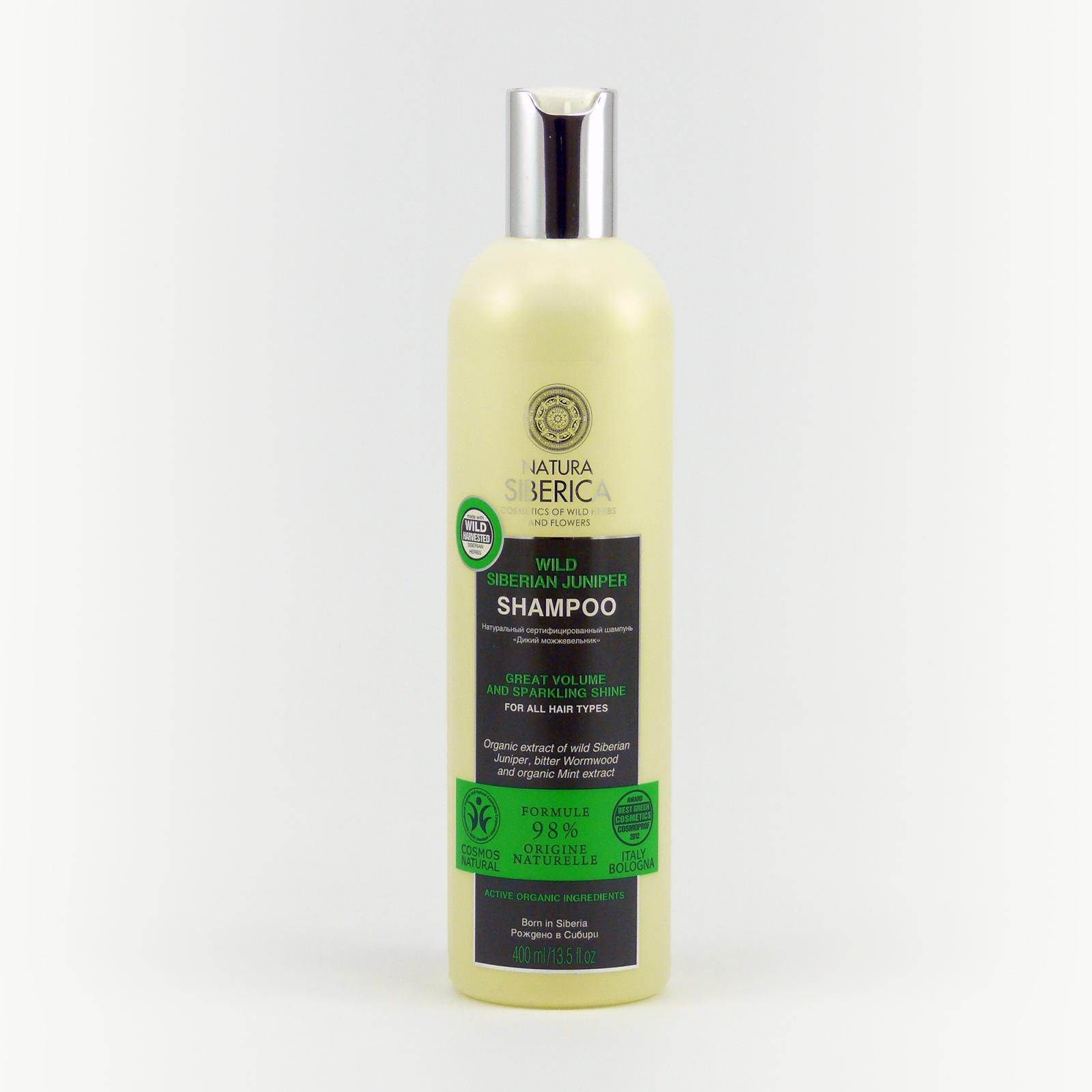 Natura Siberica Šampon pro všechny typy vlasů Divoký jalovec 400 ml