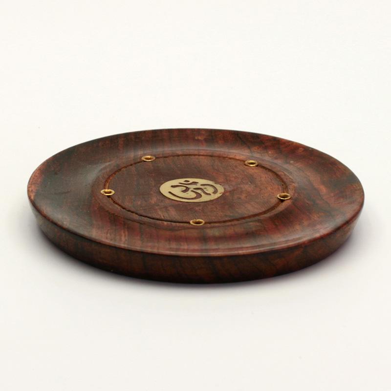 ostatní Stojánek dřevěný na indické tyčinky, talířek 1 ks