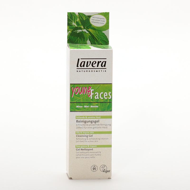 Lavera xxČistící gel máta, Faces 75 ml