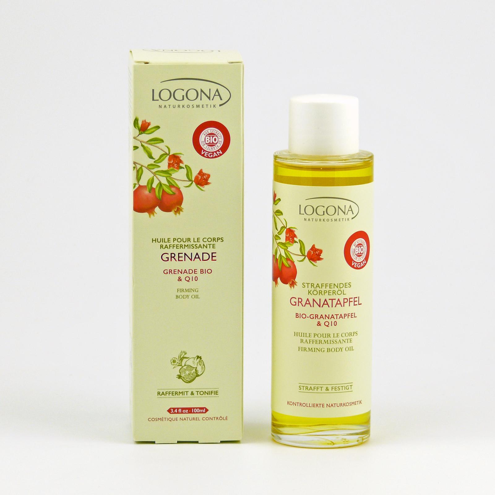 Logona Zpevňující tělový olej, Granátové jablko - vyřazen 100 ml
