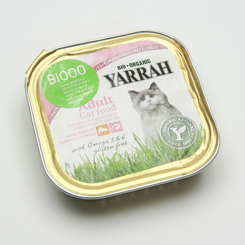 Yarrah Paté pro kočky losové s krevetami, Wellness 100 g
