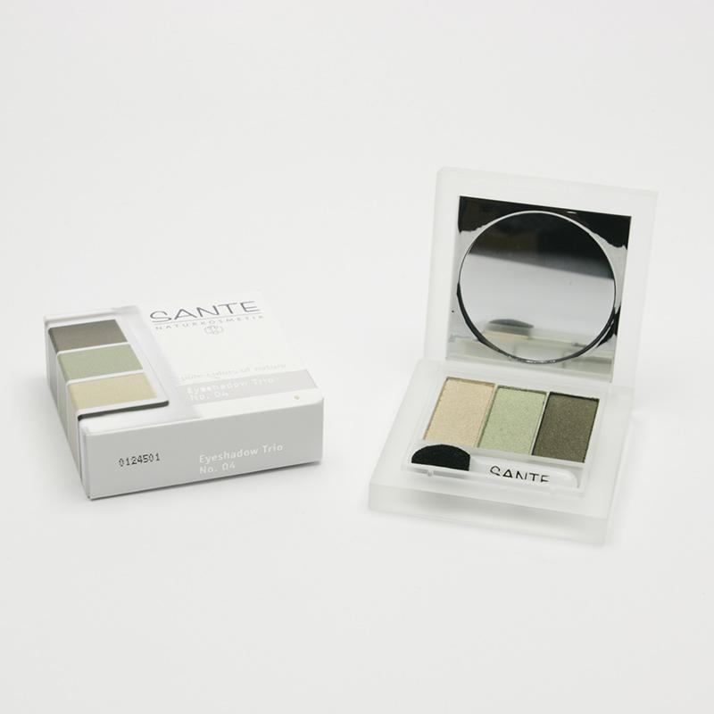 Santé Oční stíny trio 04, natural green 4,5 g