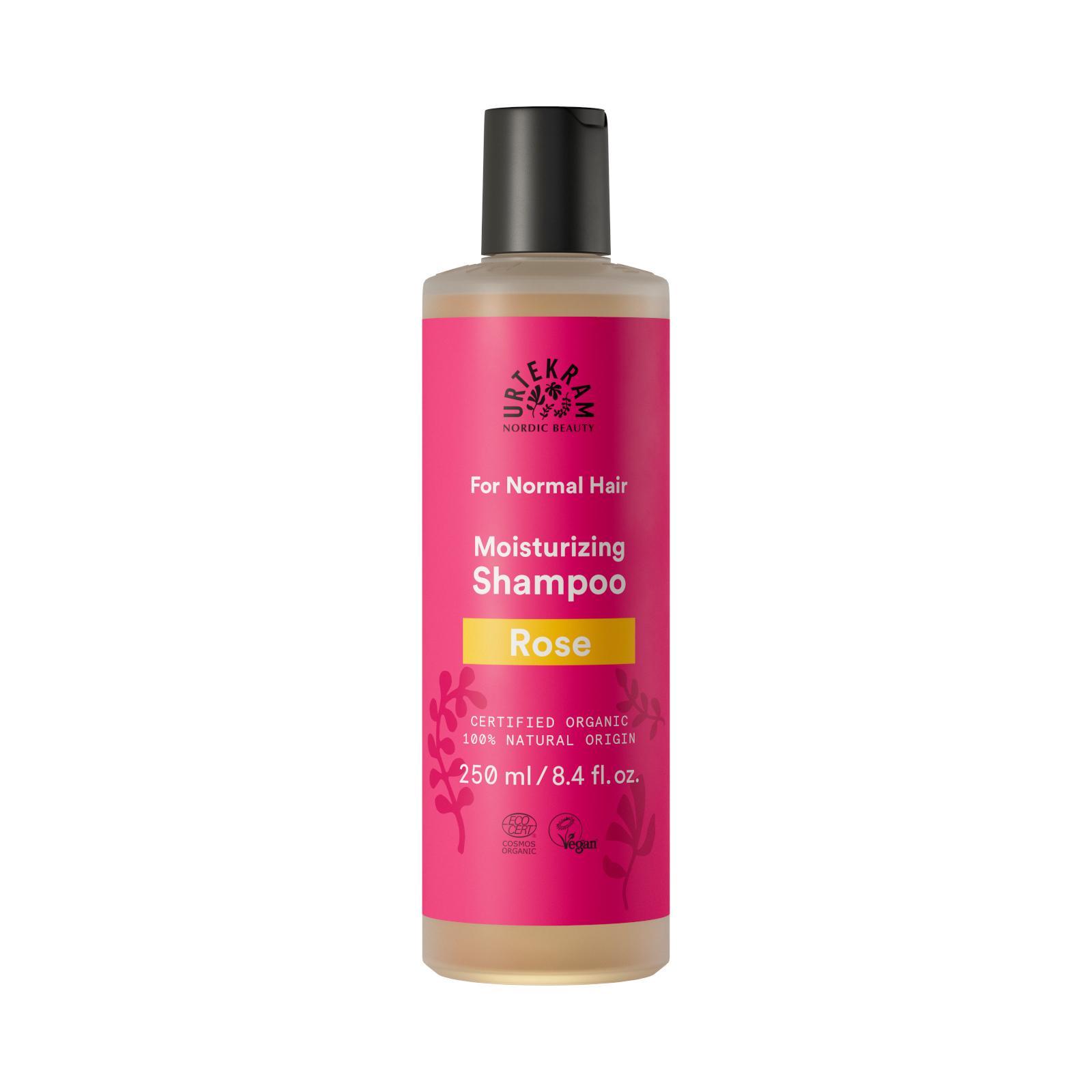 Urtekram Šampon růžový na normální vlasy 250 ml