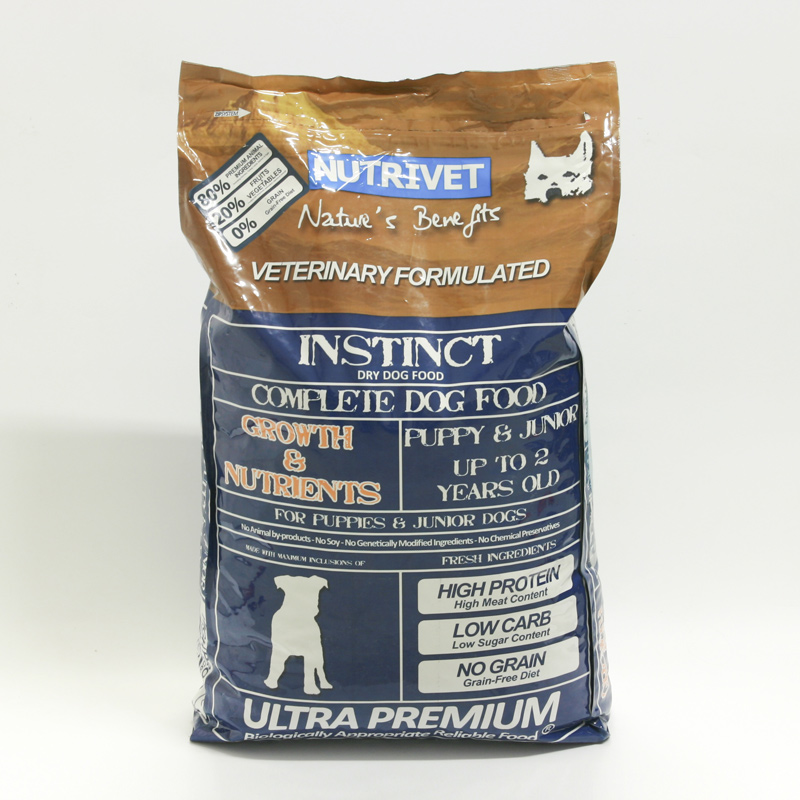 Nutrivet Krmivo pro štěňata Instinct Growth and Nutrients, Nutrivet Ultra 12 kg, psi do 2 let