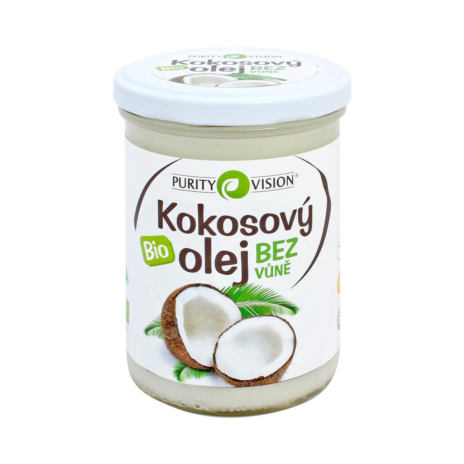 Purity Vision Kokosový olej bez vůně, bio 400 ml