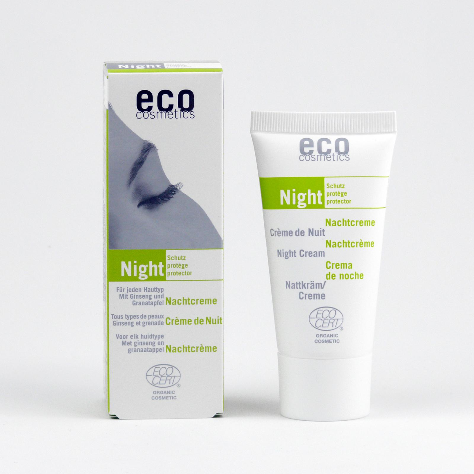 Eco Cosmetics Noční krém ženšen/granátové jablko 50 ml