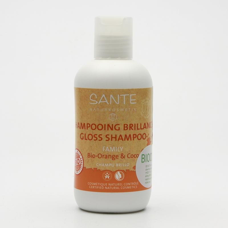 Santé Šampon gloss bio pomeranč a kokos, Family 200 ml