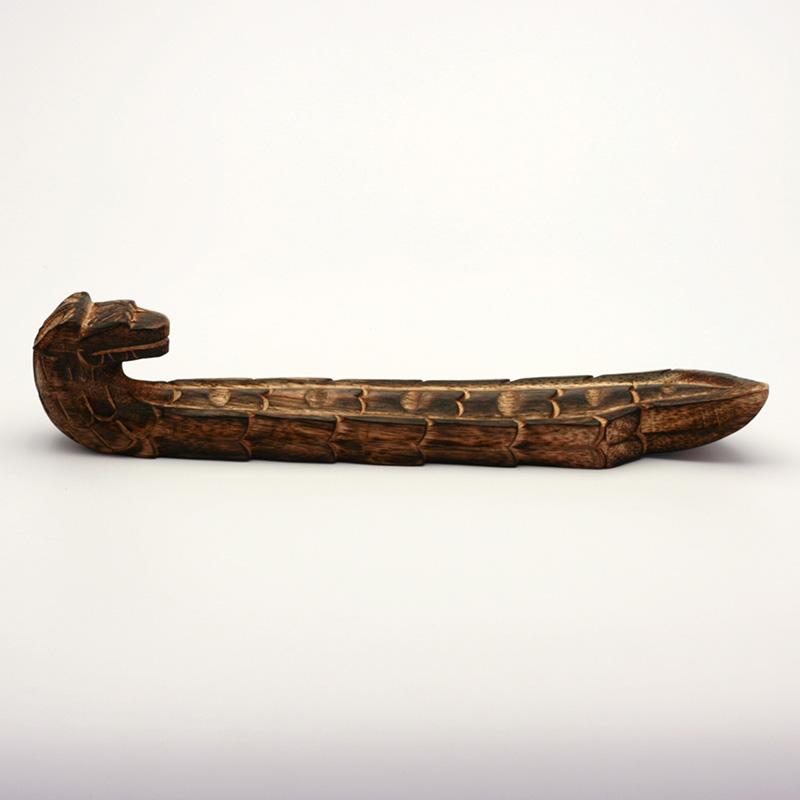 ostatní Stojánek dřevěný na indické tyčinky, drak 1 ks