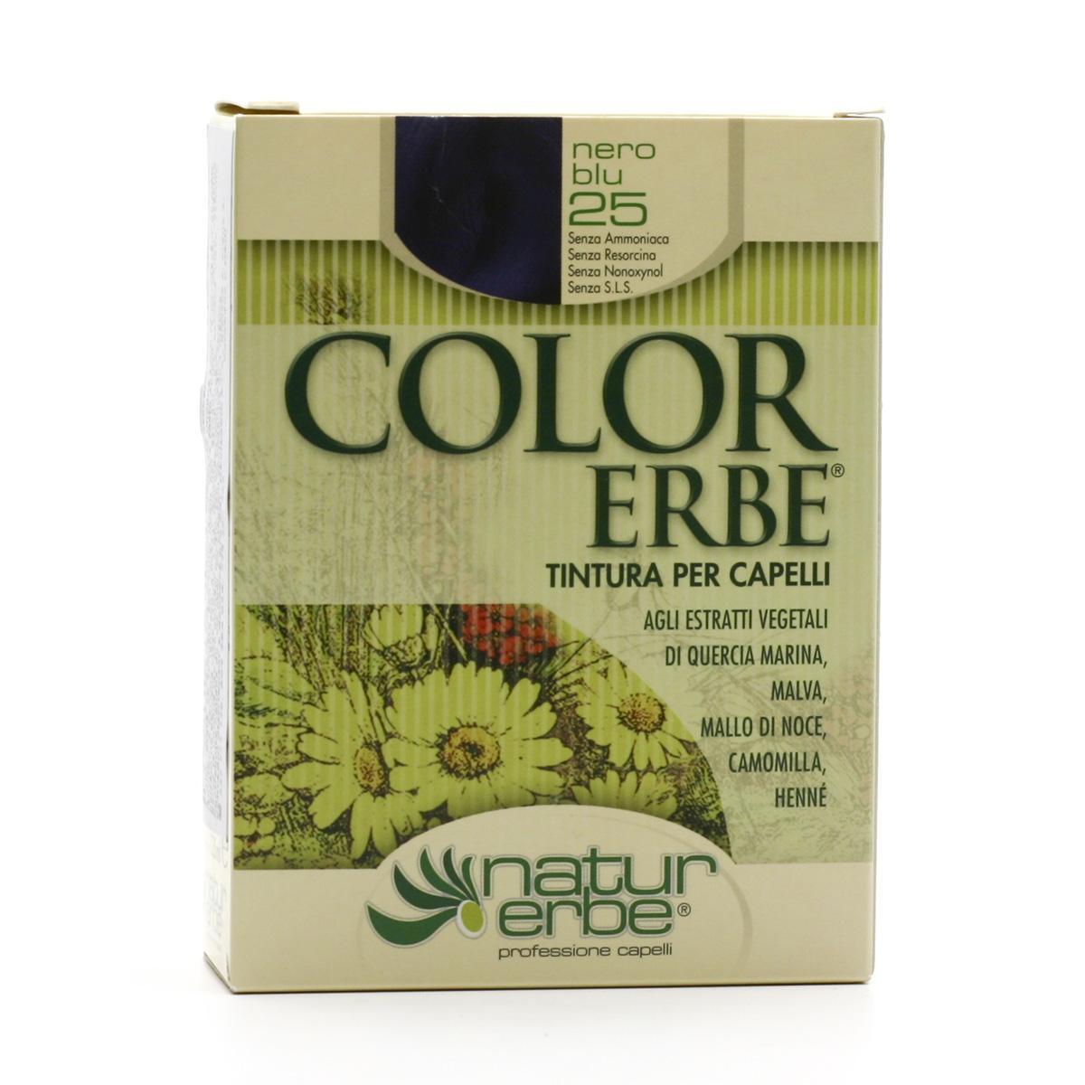 Color Erbe Barva na vlasy Modročerná 25, Natur 135 ml