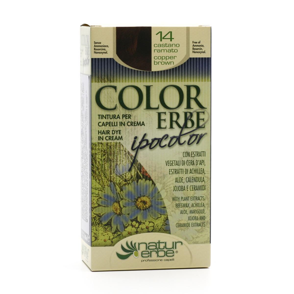 Color Erbe Barva na vlasy Hnědý kaštan 14, Ipocolor 140 ml