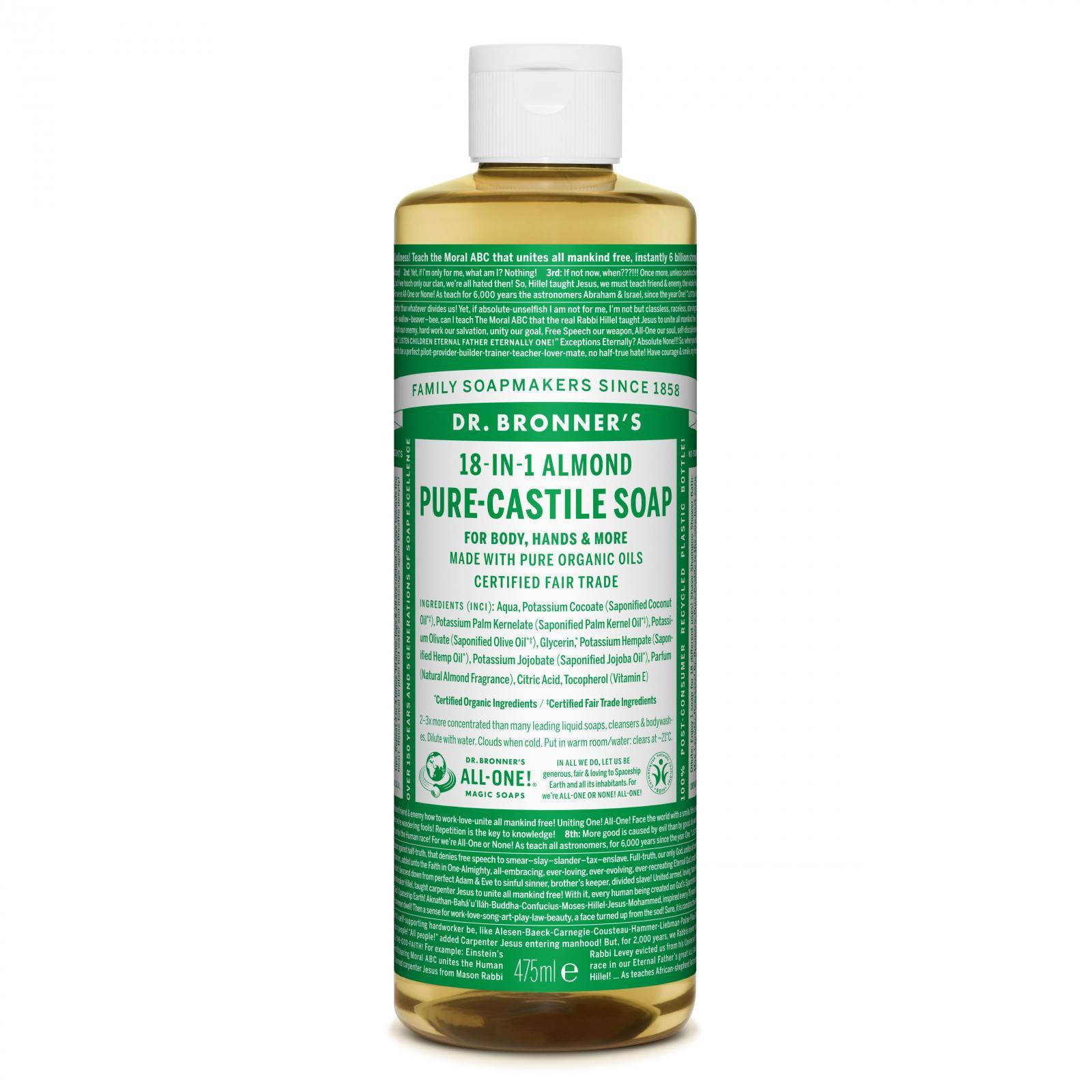 Dr. Bronner´s Tekuté universální mýdlo ALL-ONE!, Almond 475 ml