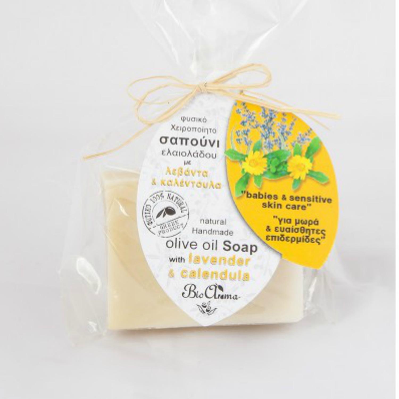 BioAroma Mýdlo s olivovým olejem a měsíčkem pro děti a citlivou pleť 90 g