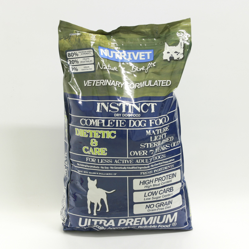 Nutrivet Krmivo pro psy Instinct Dietic and Care, Nutrivet Ultra Premium 12 kg, psi od 7 let