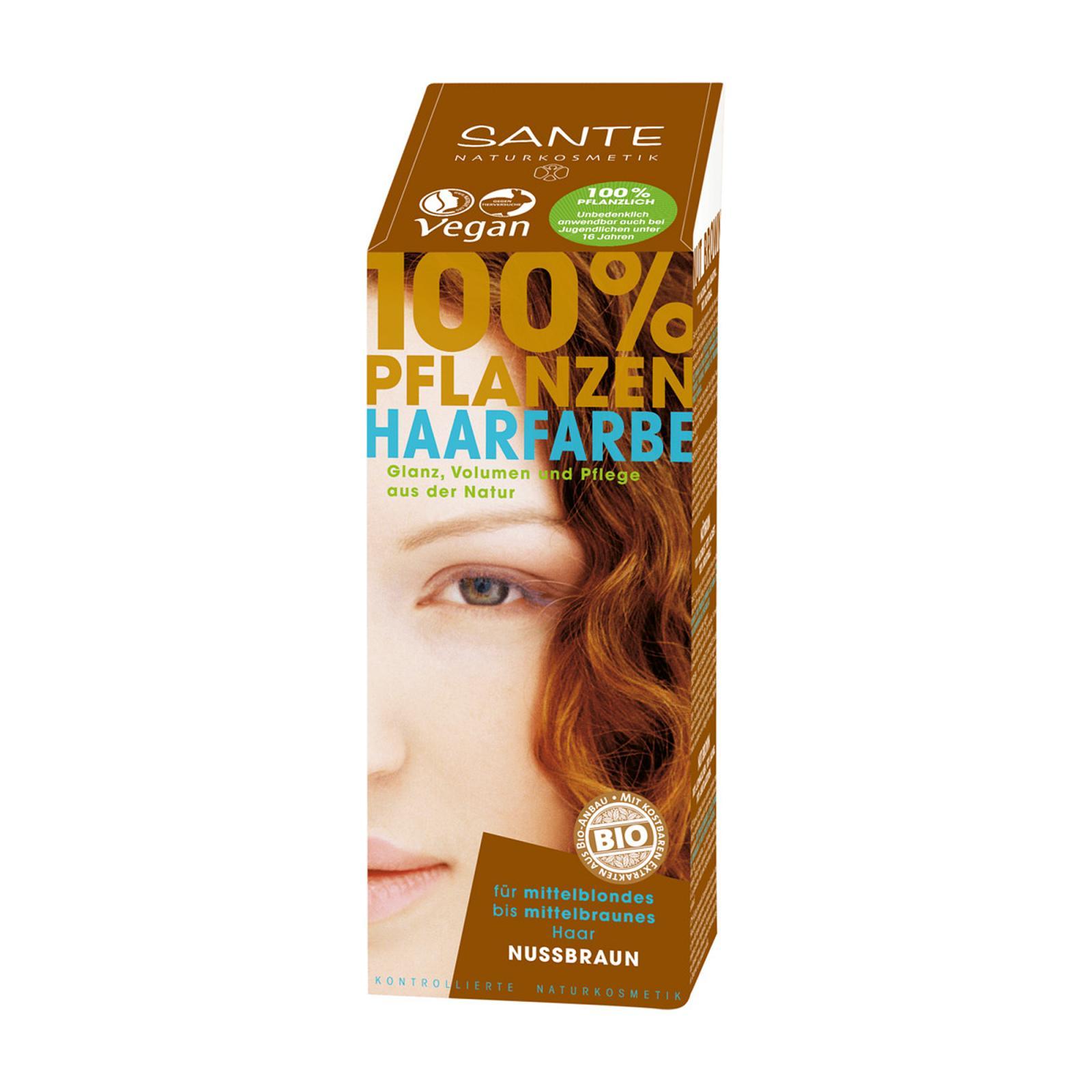 Santé Rostlinná barva na vlasy ořechově hnědá 100 g