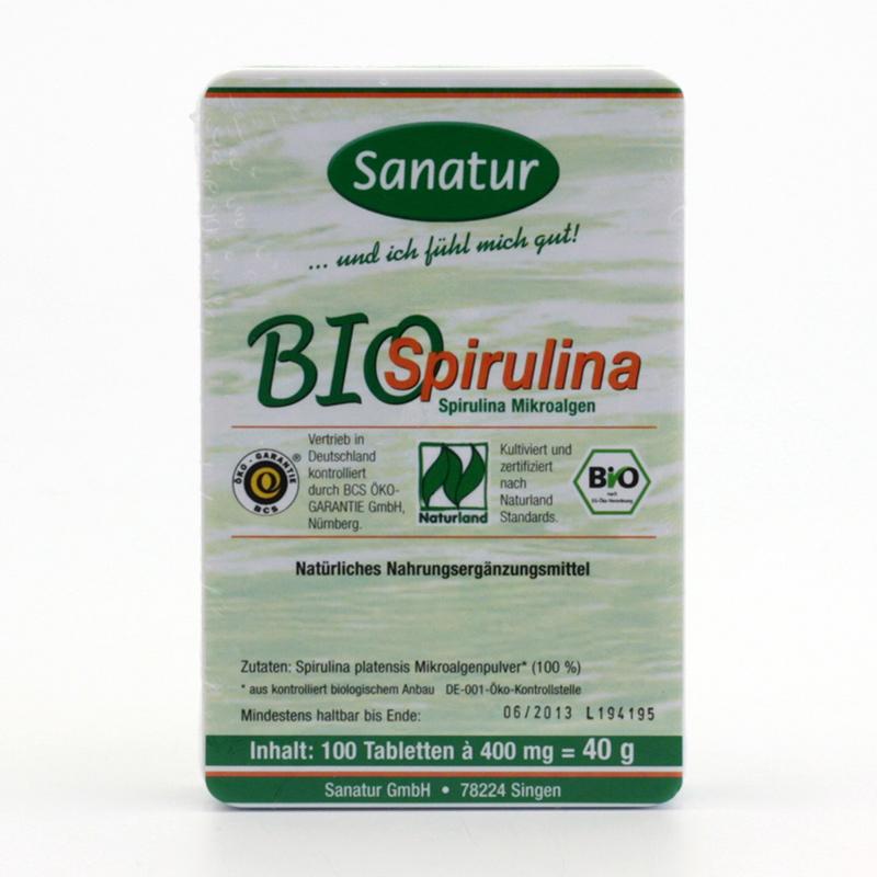 Sanatur Spirulina bio, tablety 500 tablet, 200 g