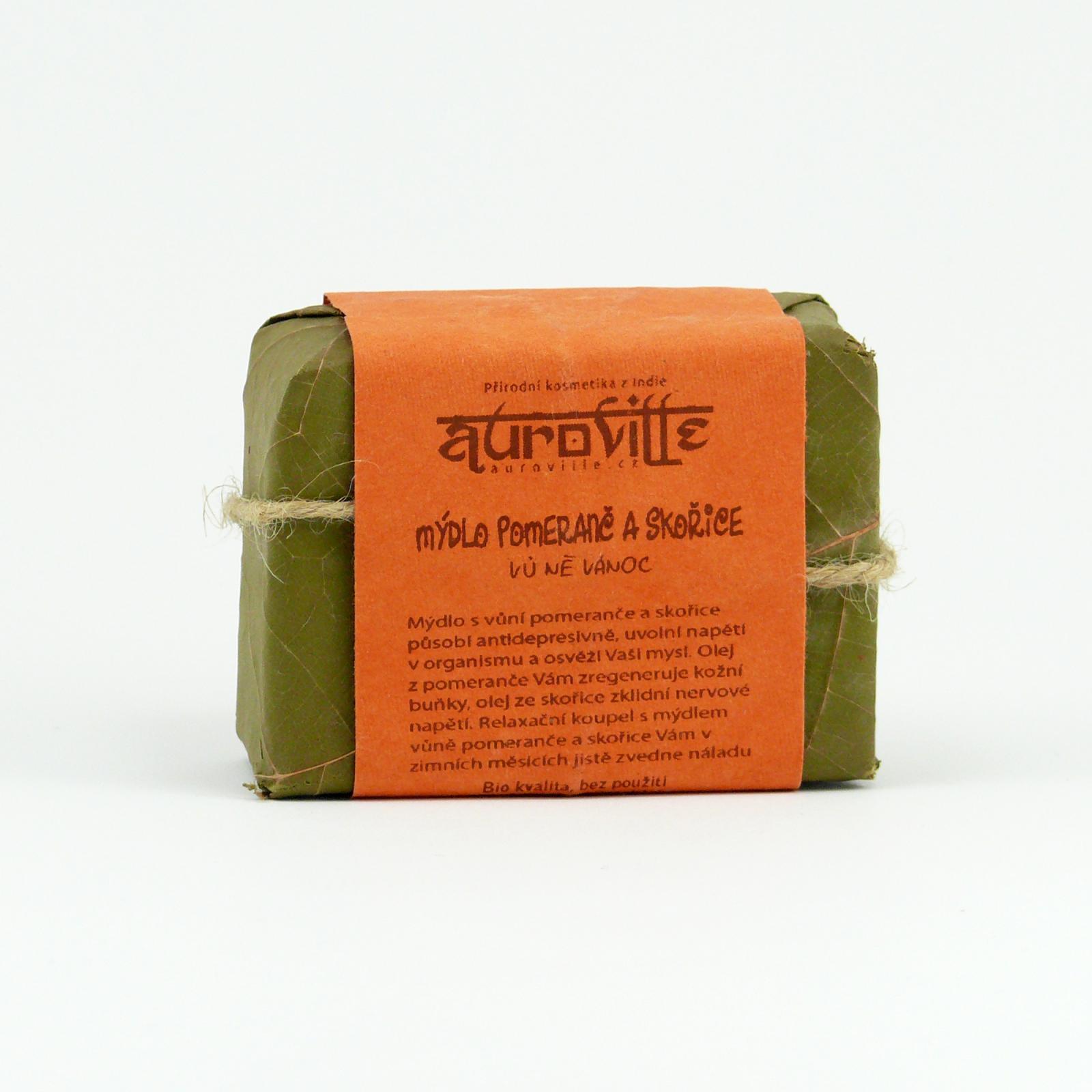 Auroville Mýdlo pomeranč a skořice, Bon Auroville 100 g