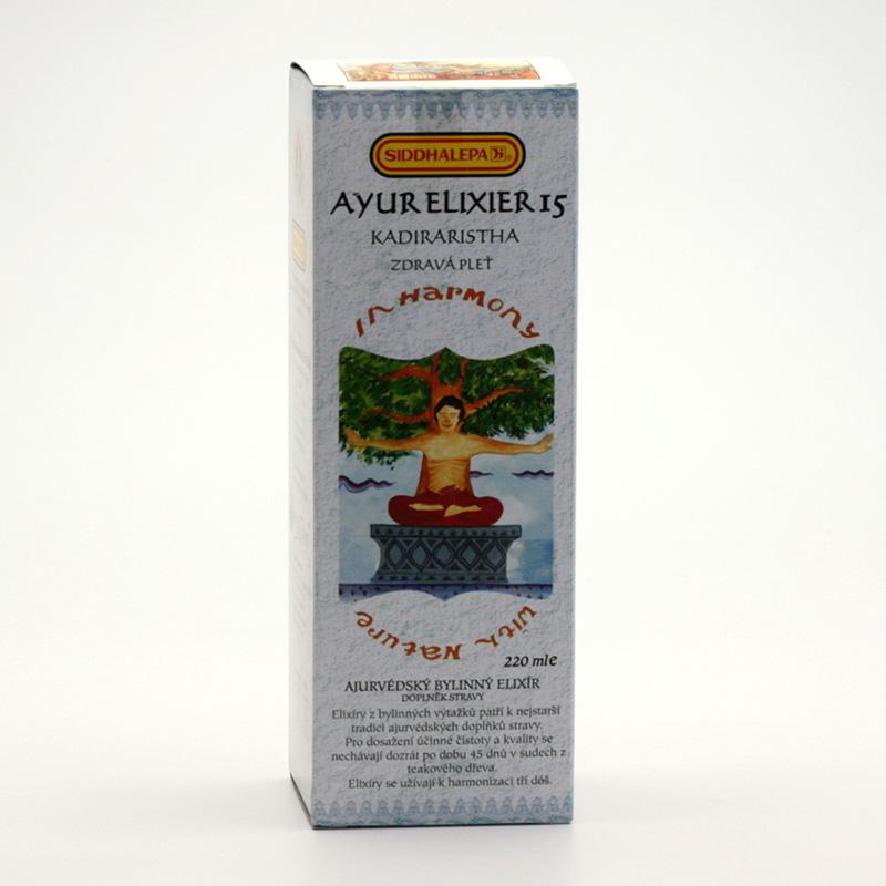 Siddhalepa Ayur elixír č. 15 Kadiraristha 220 ml