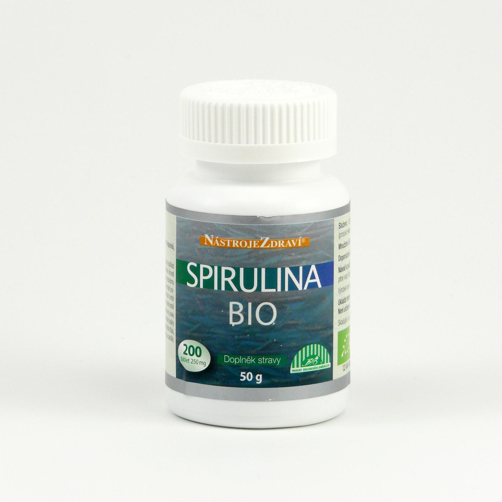 Nástroje Zdraví Spirulina extra bio, tablety 200 ks, 50 g