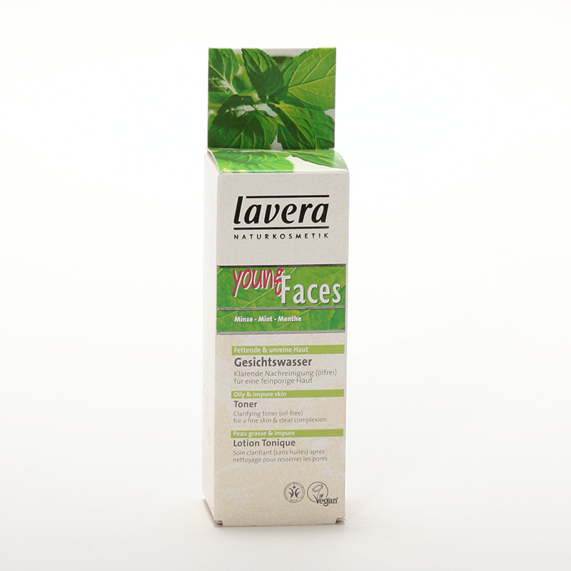 Lavera xxČistící pleťové tonikum máta, Faces 50 ml