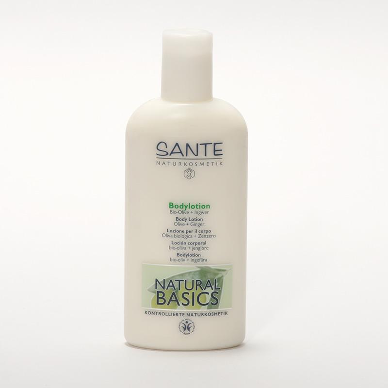 Santé Tělové mléko bio oliva a zázvor, Natural Basics 200 ml