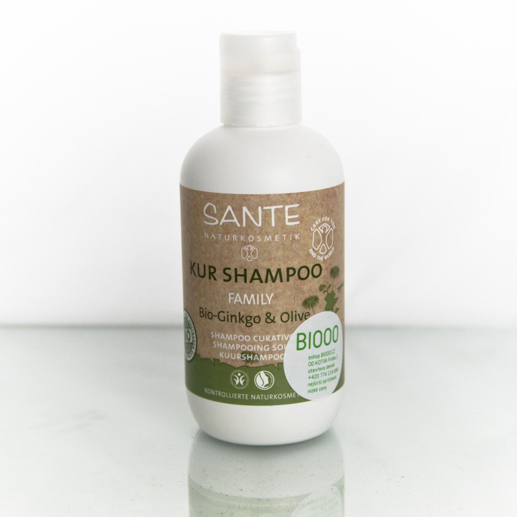 Santé Šampon bio ginkgo a oliva, Family - nepoužívat 200 ml