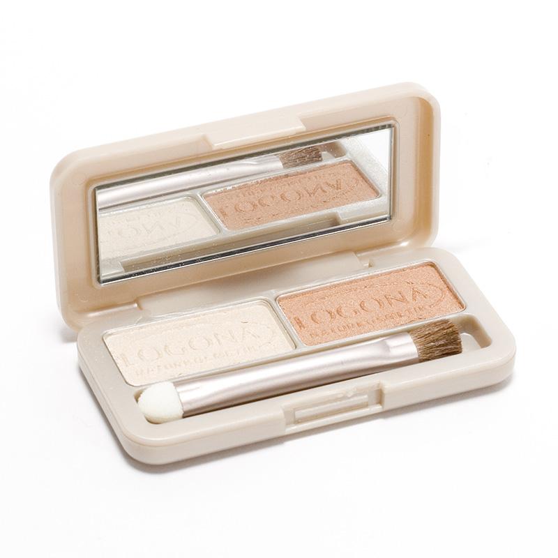 Logona Výprodej Oční stíny duo 04, Silver+Gold 3 g