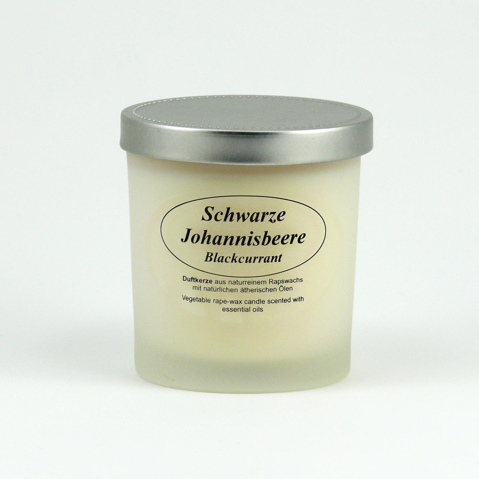 Kerzenfarm Přírodní svíčka Blackcurrant, mléčné sklo 8 cm