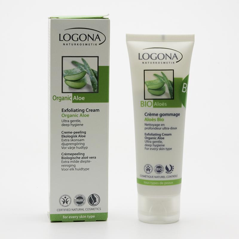 Logona Peelingový krém, Bio Aloe 100 ml