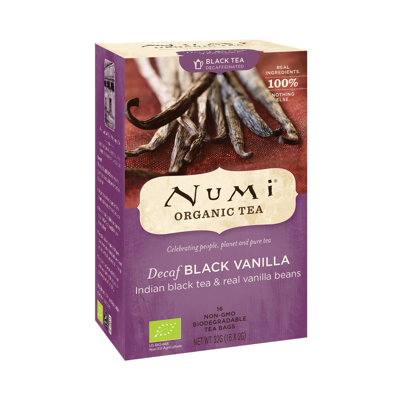 Numi Černý čaj Decaf Black Vanilla 16 ks